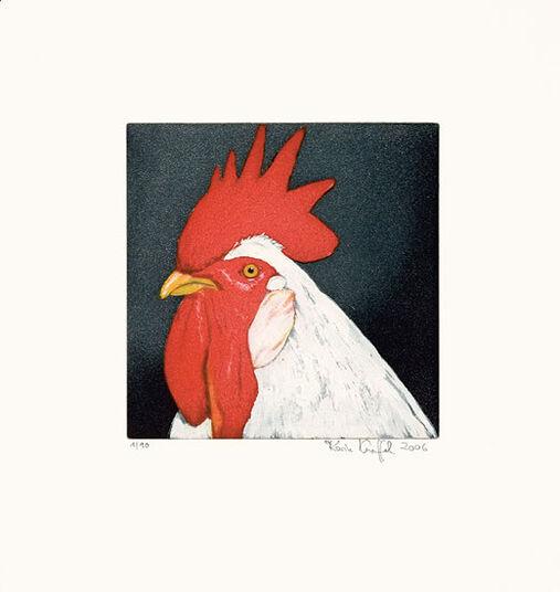 """Karin Kneffel: Bild """"Gockel (rot)"""" (2006)"""