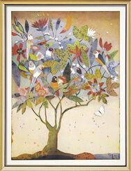 "Bild ""Papageienbaum"", gerahmt"