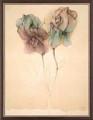 """Bild """"Zwei Lilien"""" (1987), gerahmt"""