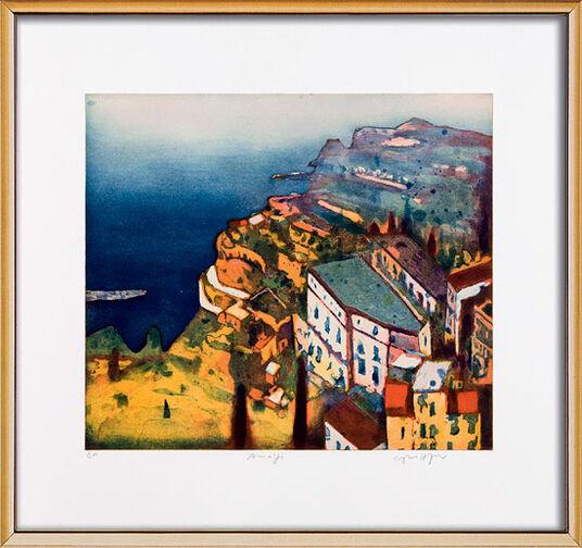 "Gerhard Hofmann: Bild ""Amalfi"" (2008), gerahmt"