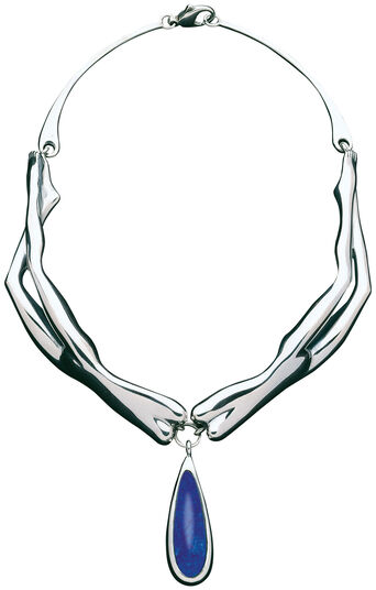 "Bruno Bruni: Necklace ""La Gioia"", 925 sterling silver with lapis lazuli"