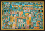 Painting 'Temple Quarter of Pert' (1928), framed