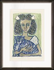 "Bild ""Mädchen mit Katze I"" (1956)"