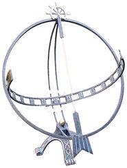 """Sun Clock """"Steering Wheel"""", Bronze"""