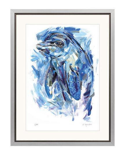 """Audrey Hagemann: Bild """"Delfin"""", gerahmt"""