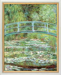 Painting 'Water Lilies and the Japanese Bridge' (1899), framed