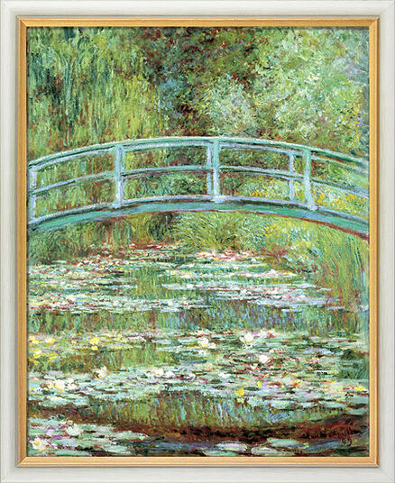 Claude Monet: Painting 'Water Lilies and the Japanese Bridge' (1899), framed