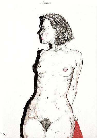 """Erhard Göttlicher: Bild """"Katarina"""" (1998), ungerahmt"""