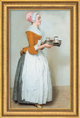 "Art print ""The Chocolate Girl"" (1743-45), framed"