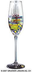 "(868A) Sparkling Wine Glass ""Pacific Steamer"""
