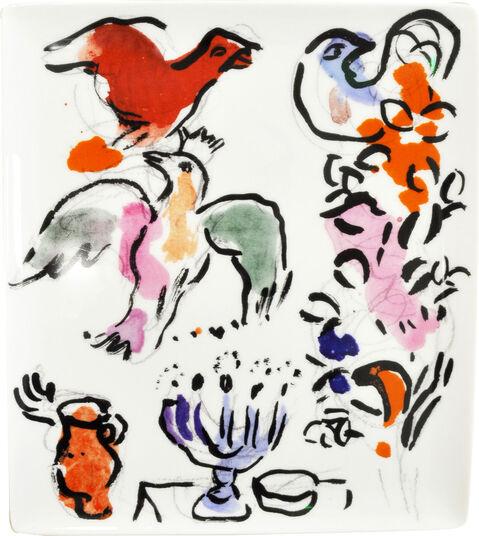 "Marc Chagall: Kollektion Les Vitraux d'Hadassah von Bernardaud - Porzellanschale ""Asher"""