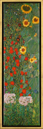 "Gustav Klimt: Painting ""Sunflowers"""