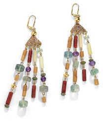Earrings 'Garden Blossom' - after Gustav Klimt