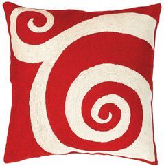 "Cushion Cover ""Red Circle"""