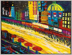 "Bild ""Boulevard V"" (2006) (Original / Unikat), gerahmt"