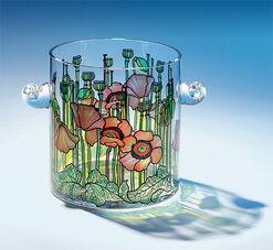 """Sektkühler """"Mohnblumenwiese"""" aus Glas - nach Louis C. Tiffany"""