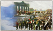 "Bild ""Freude am Brandenburger Tor"" (2015) (Original / Unikat), gerahmt"
