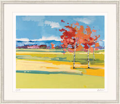 "Picture  ""Birches in the Rhine Valley"""