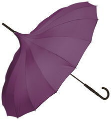 "Stick Umbrella ""Pagode"", Violet Version"