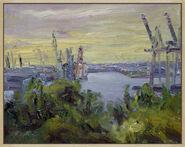 "Bild ""Elbblick vom Altonaer Balkon"" (2013) (Unikat)"
