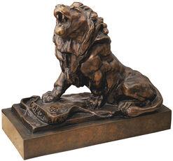 """""""The Wounded Lion"""" (Le lion qui pleure), bronze"""