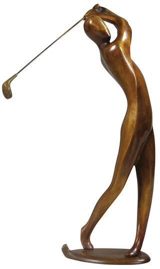"Jürgen Ebert: Skulptur ""Golfer"", Bronze"