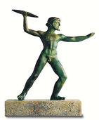 "Skulptur ""Zeus als Blitzschleuderer"", Metallguss"