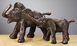 """Skulptur """"Elefantenfamilie"""", Bronze"""