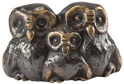 """Skulptur """"Eulenfamilie"""", Bronze"""