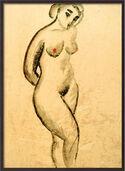 """Bild """"Weiblicher Akt, stehend"""" (1913), gerahmt"""