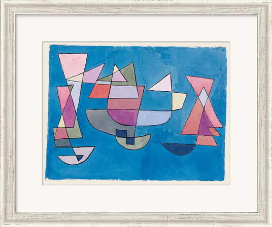 "Paul Klee: Painting ""Sailing Ships"" (1927), Framed"