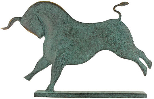 "Raimund Schmelter: Animal Sculpture ""Bull"", Bronze"