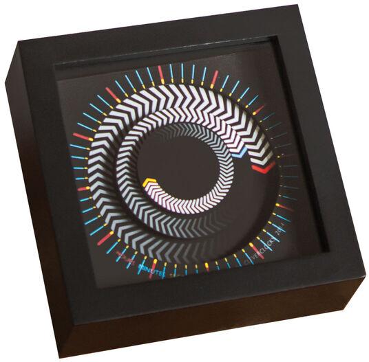 """Zeitkunst-Designuhr """"Arrows"""", Version als Tischuhr"""