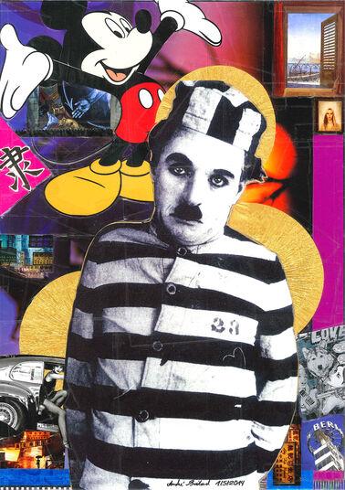 "André Boitard: Bild ""Charlie Chaplin"" (2014) (Unikat)"