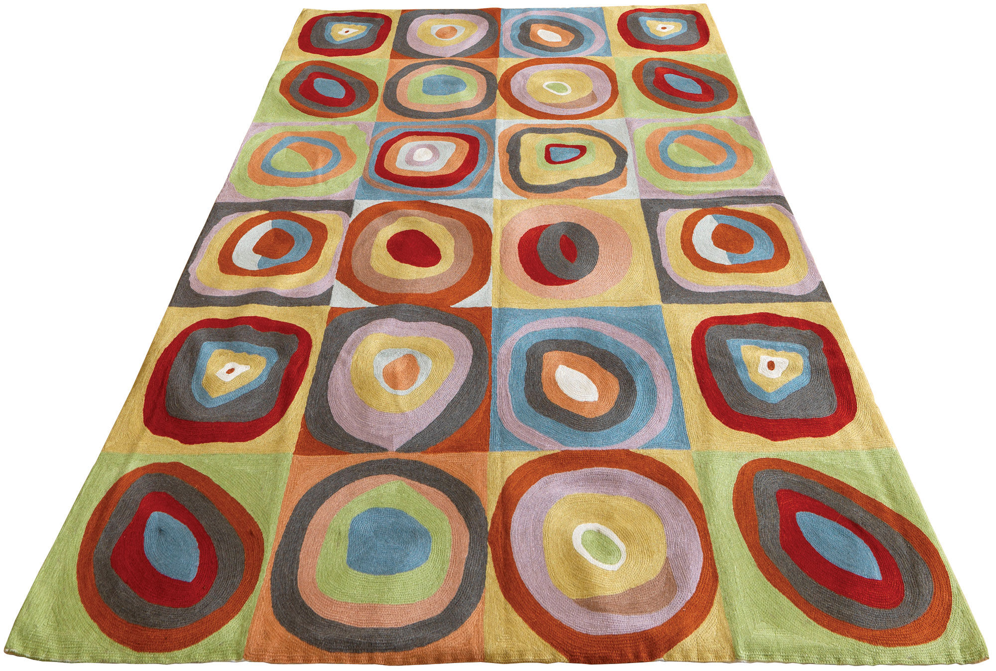 Wassily Kandinsky Teppich Farbstudie Quadrate (1913