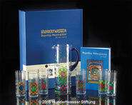 "Seven-piece set ""Rainy Day Waterglasses/Carafe"" with book"