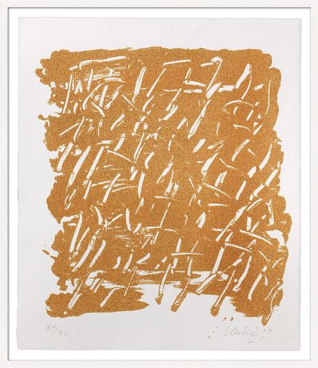 """Günther Uecker: Bild """"Kalender - Sanddruck"""" (2009), gerahmt"""