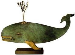 """Skulptur """"Walfisch"""", Bronze"""