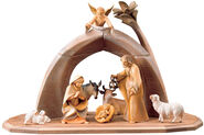 Wood-Carved Saviour Nativity, Painted by Hand