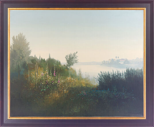 Willy Reichert: Painting 'Seeon Abbey', framed