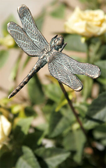 "Garden Plugs ""Dragonfly on bronze Bar"""