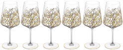 "6 Piece Set of Red Wine Glasses ""My Charming Garden"""