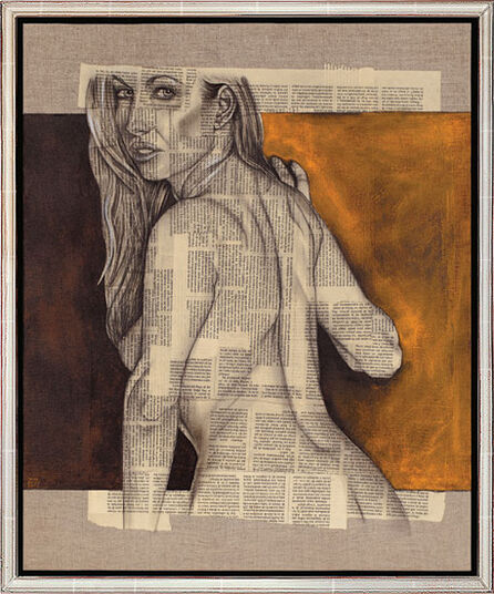"Omar Abud: Bild ""Mujer de espalda"" (2008) (Original / Unikat), gerahmt"