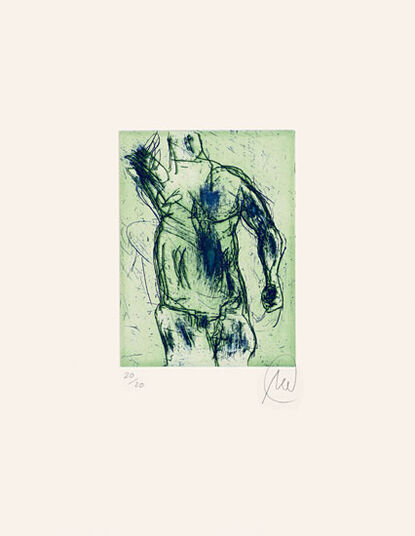 "Markus Lüpertz: Bild ""Herkules (blau/grün)"" (2012)"