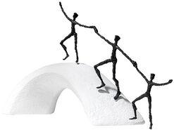 Sculpture 'We Build Bridges', bronze on cast stone