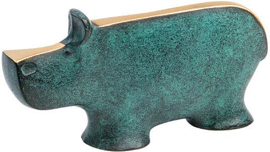 """Raimund Schmelter: Skulptur """"Nilpferd"""", Bronze"""