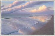 """Bild """"Abendlicher Strand III"""", gerahmt"""