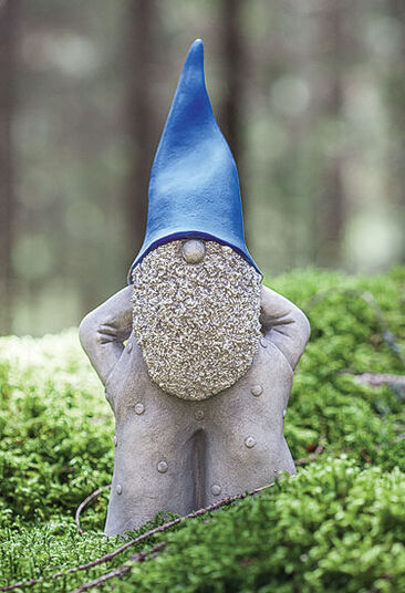 "Garden Sculpture ""Gnome wearing blue cap"" large edition"