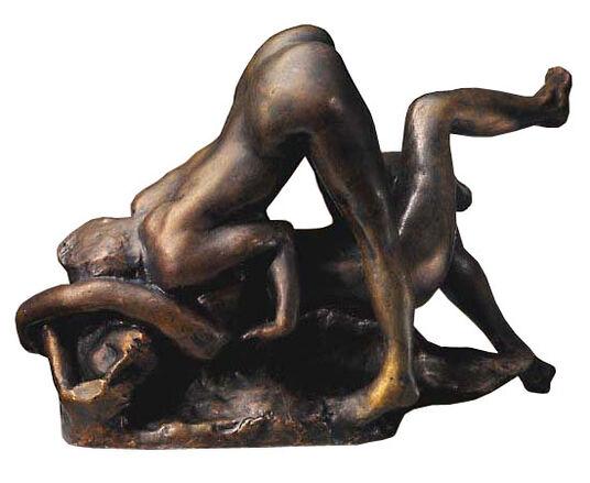 """Sculpture group """"Damned women"""" (Femmes Damnées),bronze art"""
