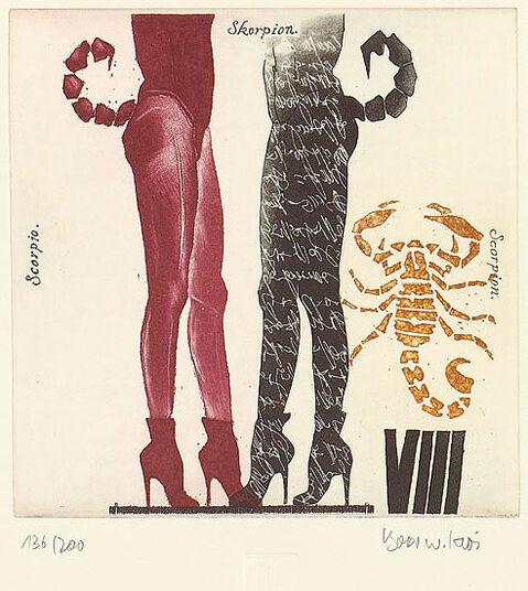 """Bodo W. Klös: Painting """"Scorpio"""" (24.10.-22.11.)"""